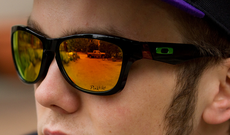 are oakley lenses glass  jordan's custom oakley jupiter glasses notice the pinkbike etched into the lens!