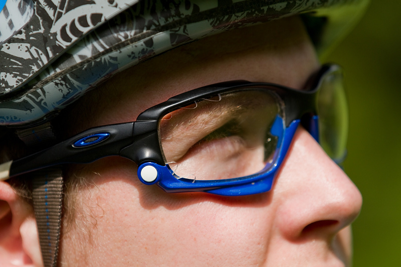 Mike's Oakley Jawbone glasses that he put together specifically for riding