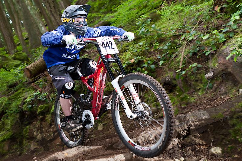 Mike Blaschek soakin' the bike up