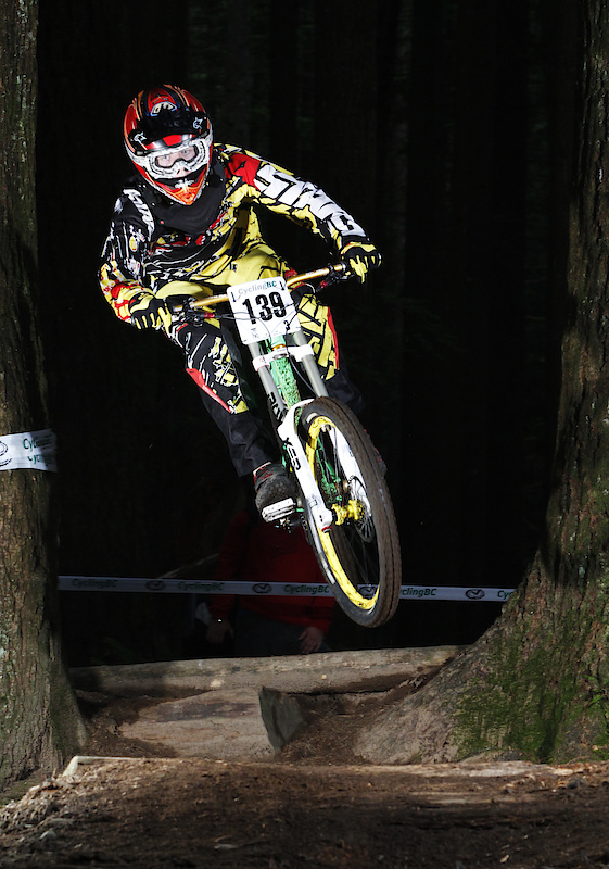 Brennan Walstrom jumping through the trees