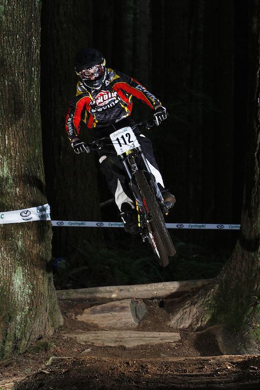 Cam Hilts coasting off the jump