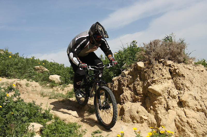 Antonis killing a technical section of the track