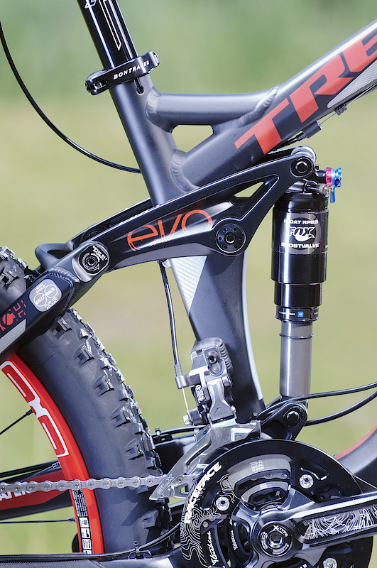 Just as on the coil sprung version, the Scratch Air uses Trek's Full Floater system