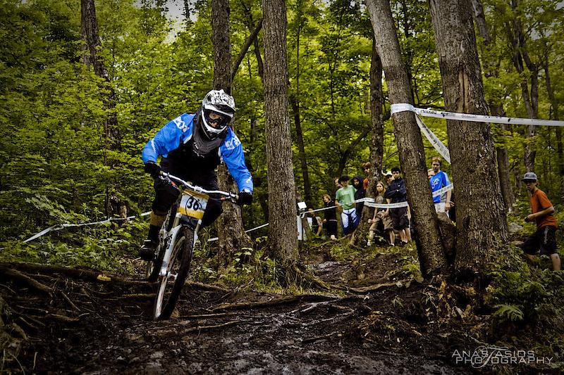 Rider in Elite Men's in Camp Fortune Quebec Cup