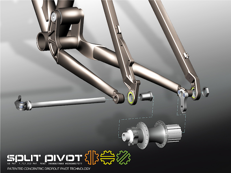 An exploded view of the Split-Pivot system