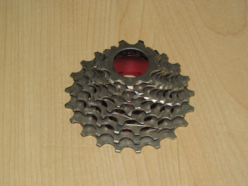 You're looking at a SRAM PowerDome cassette with a 9 tooth small cog. This is an early prototype that has been machined as a 9 speed unit, but will we see 6 and 7 speed versions in the near future?