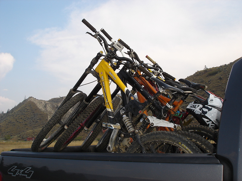 There's nothing better than seeing a truck full of DH bikes.