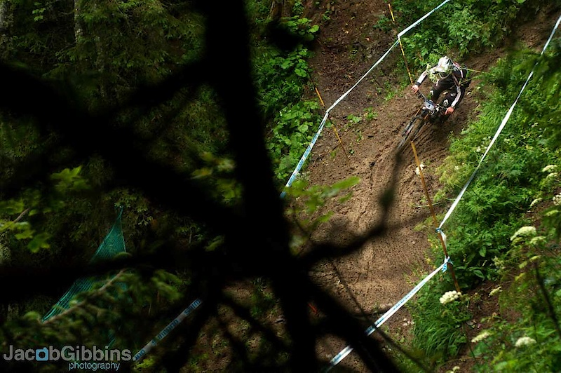 Cam Cole in one of the MANY berms on the mud bath of a track