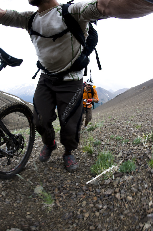 Riding in the backcountry is a lot like skiing in the backcountry...every turn must be earned.