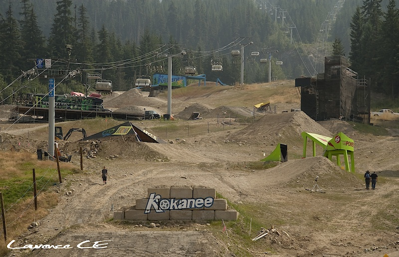 Crankworx 2010 Slopestyle Course overview - Laurence CE - www.laurence-ce.com