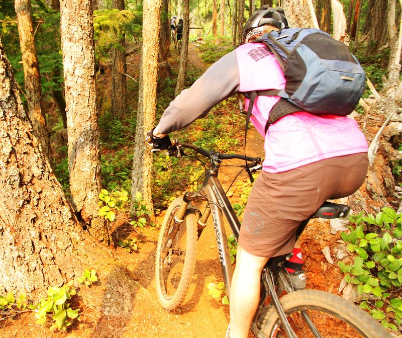 More single track ridge riding