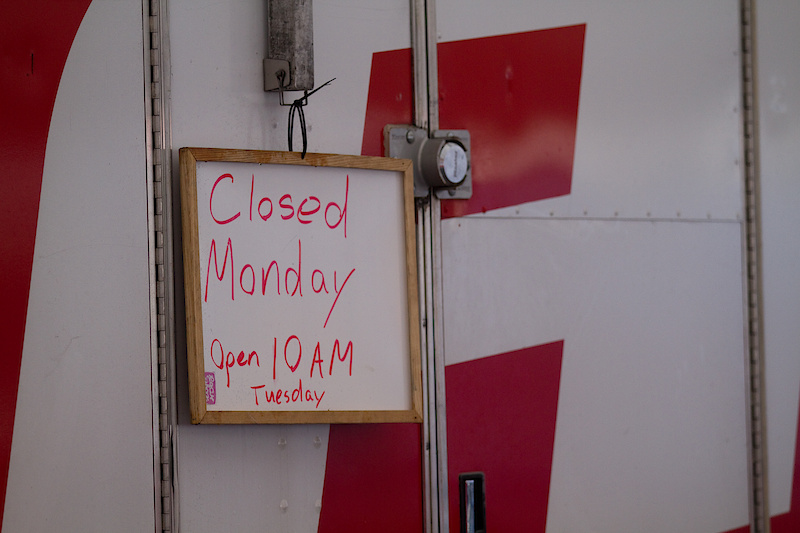 Closed for business. Check back monday.