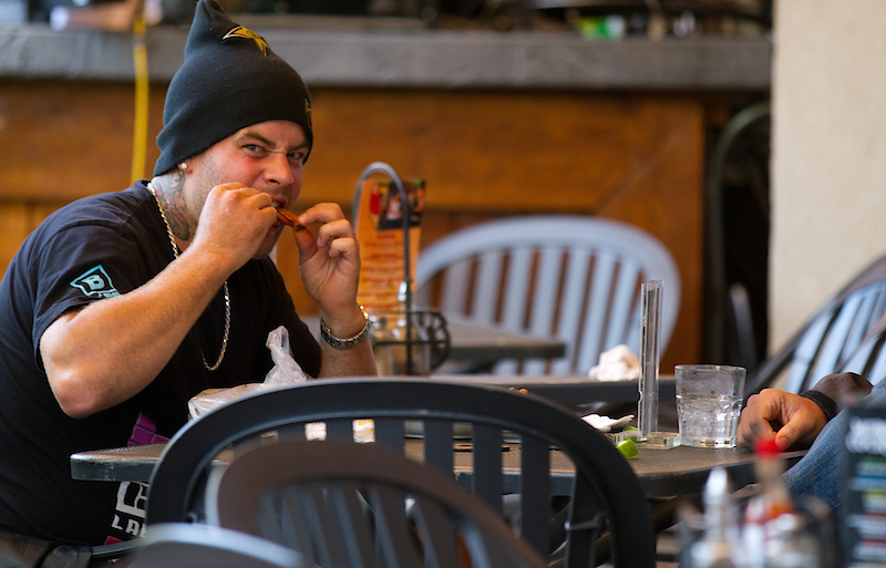 Jordie Lunn made it out to Crankworx and looks hungry