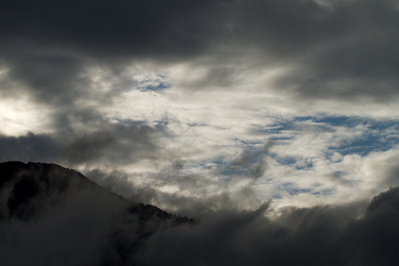 Cloud cover and rain haunted Whistler all day