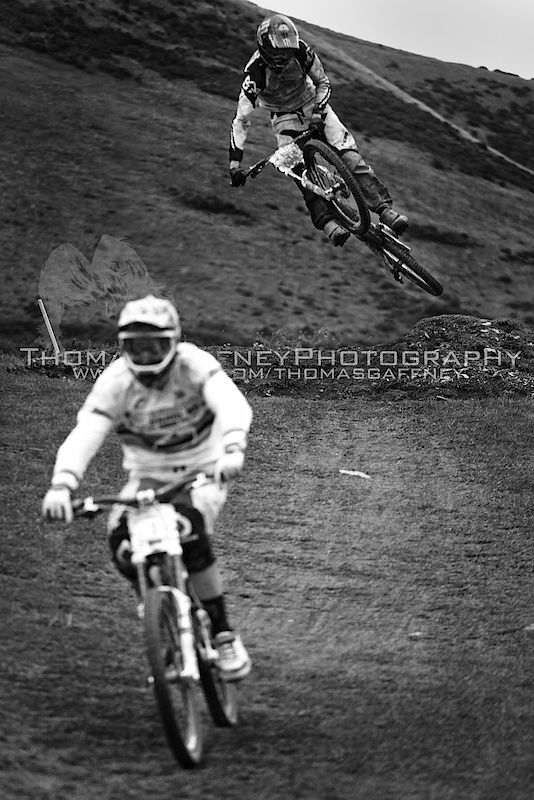 Racing the fourth round of the British Downhill Series at Moelfre. Pics for sale at:  thomas.gaffney.89@hotmail.com  www.flickr.com/thomasgaffney