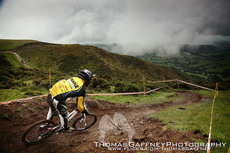 Racing the 4th round of the British Downhill Series 2010 at Moelfre  ww.flickr.com/thomasgaffney
