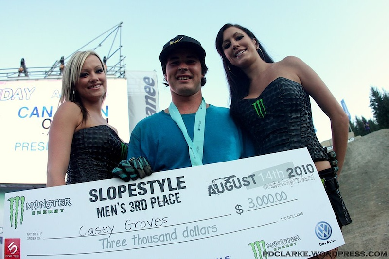 Casey and the Monster girls! Congrats Casey for taking 3rd!