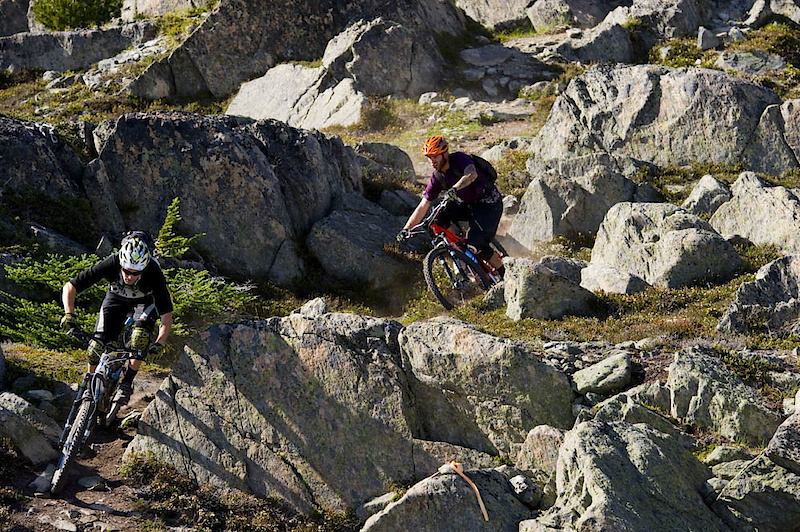 Whistler is an insane place to explore. Quality trail time doesn't have to mean the bike park, either. Ross Schnell and Seb Kemp laying tracks in some quality dirt.