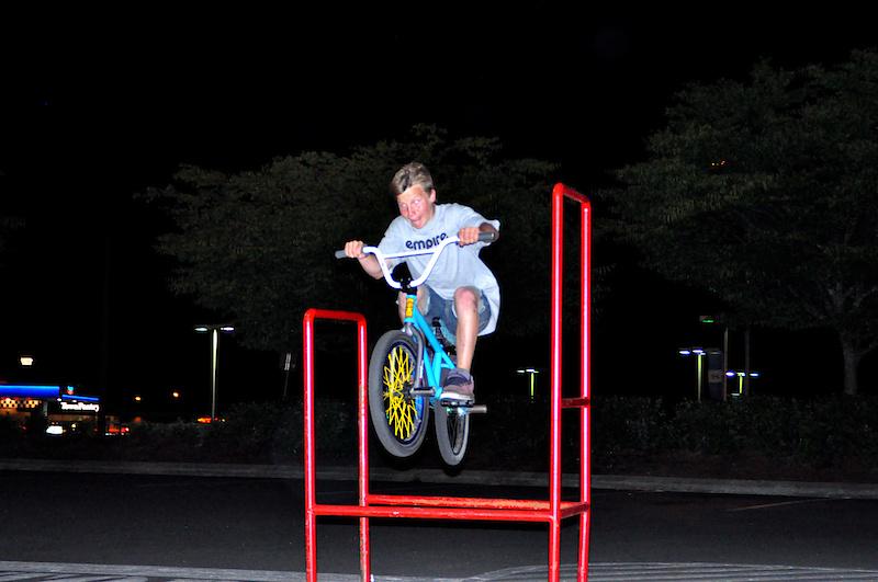 j-hop through the cart thing