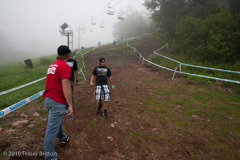 World Cup Downhill Track Course walk.