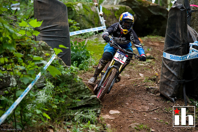 Jill Kintner practicing for her first ever World Cup Downhill
