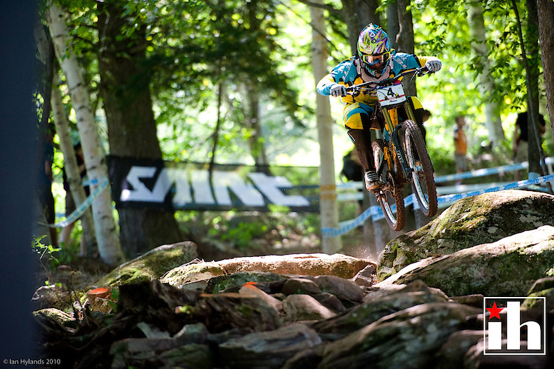 Gwin looked fast, but ended up 4th, leaving only Steve Peat at the top.
