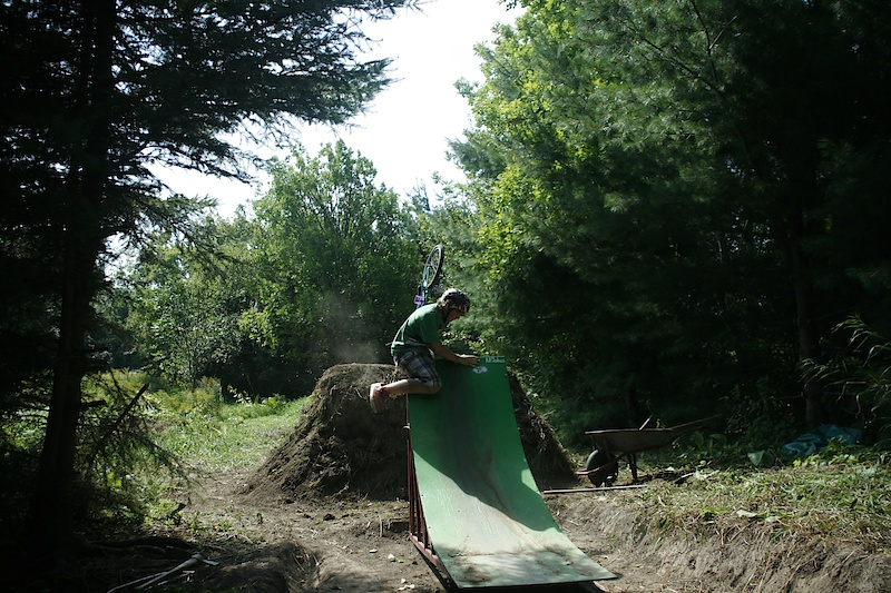 Sometimes when you have no brakes you take a ramp to the choda. Nick paying hard dues. Ouch.