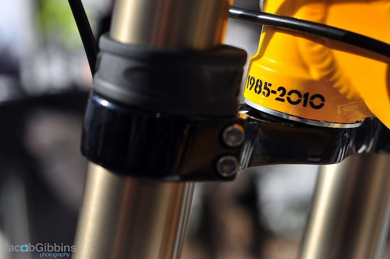 Burly headtube detail on the 303DH.