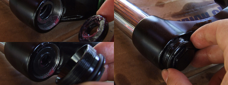 <span style='font-size:20px'>Step 13.</span> Once you are sure that the spring is seated correctly, reinstall the spring side top cap.