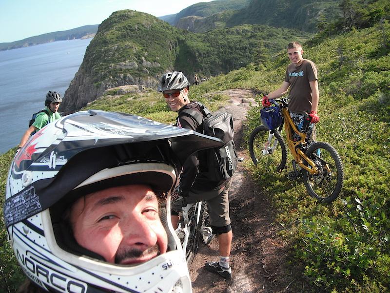 Trail Riding with shredding Newfoundlanders