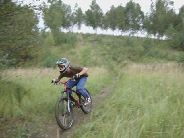 riding down :)