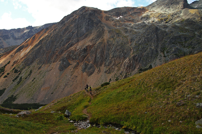Heading down into Silver King Basin.