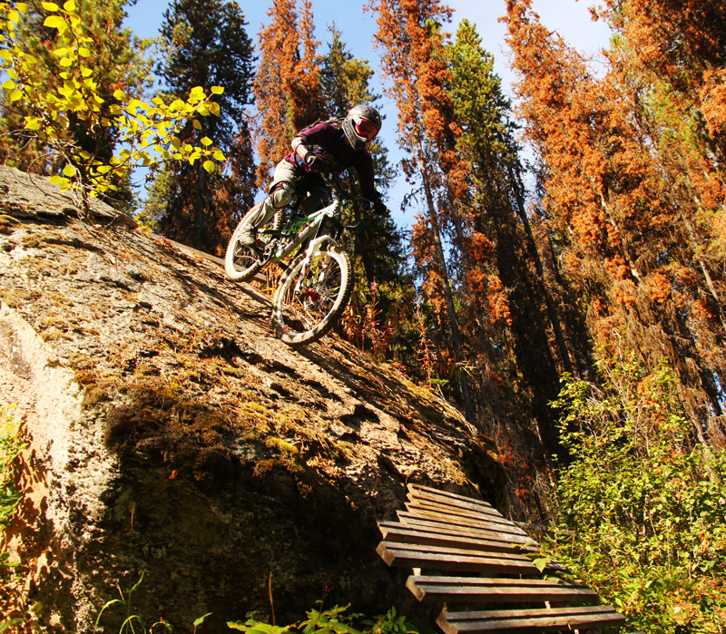 Huckin Eh - Smithers; another trail built by trail crew and volunteers