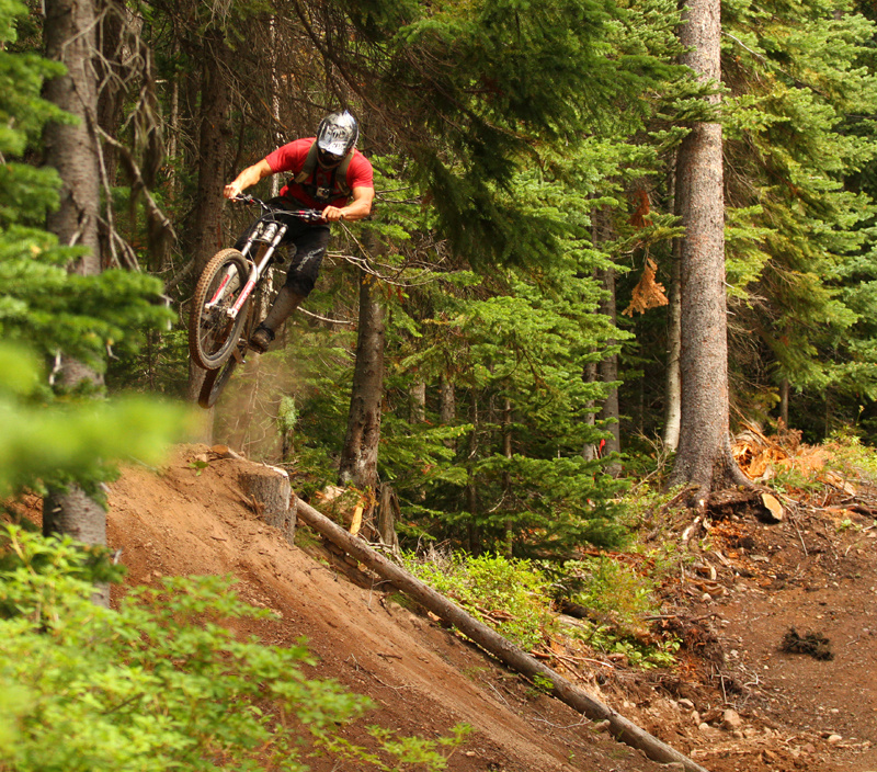 Paydirt - Smithers; purpose-built trail with lots of jumps