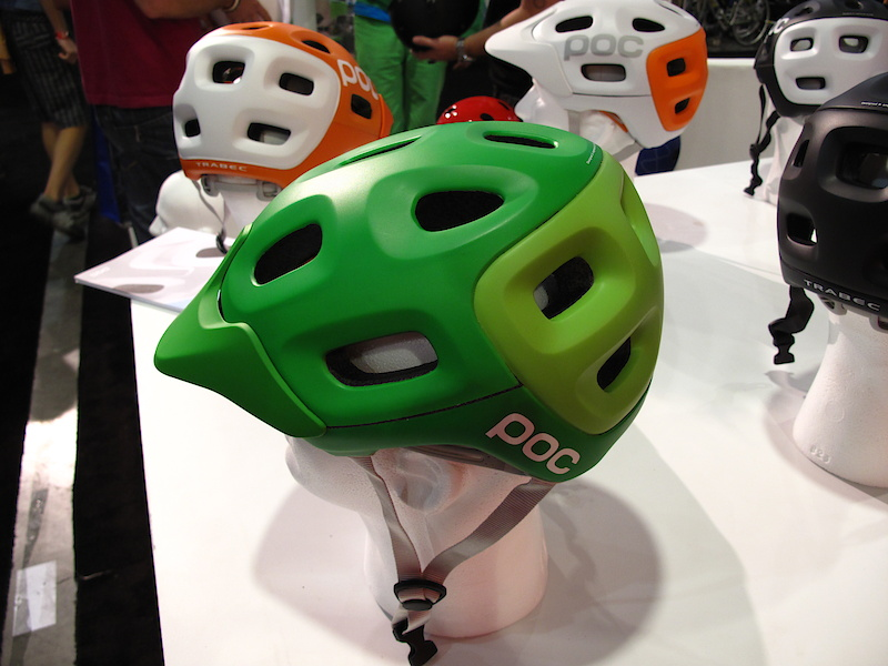 You're either going to love or hate this one. POC's new Trabec helmet stands out from the crowd with both its colors and its style. Word is that there will be two models to choose from, a