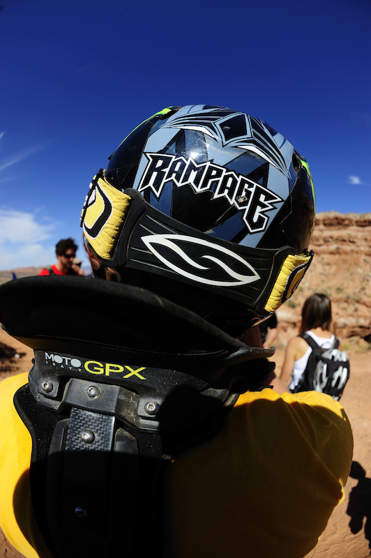 Only at the Red Bull Rampage will you see four dudes successfully send it across a sixty foot gap in a matter of ten minutes.