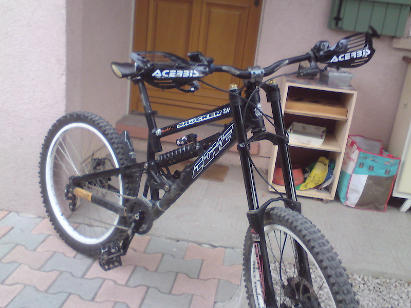 my gnarly cove shocker DH, with singlespeed kit and Acerbis Mx!