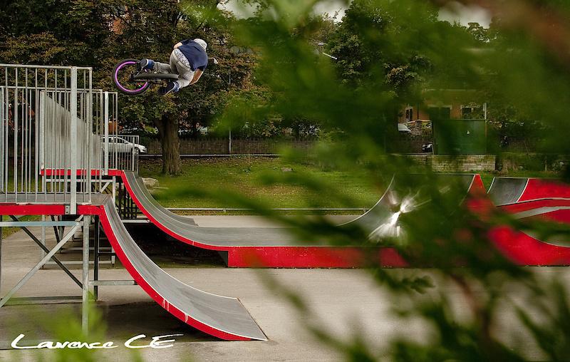 Ben Dalton at Colwyn Bay Skatepark in Colwyn Bay, Wales - photo by