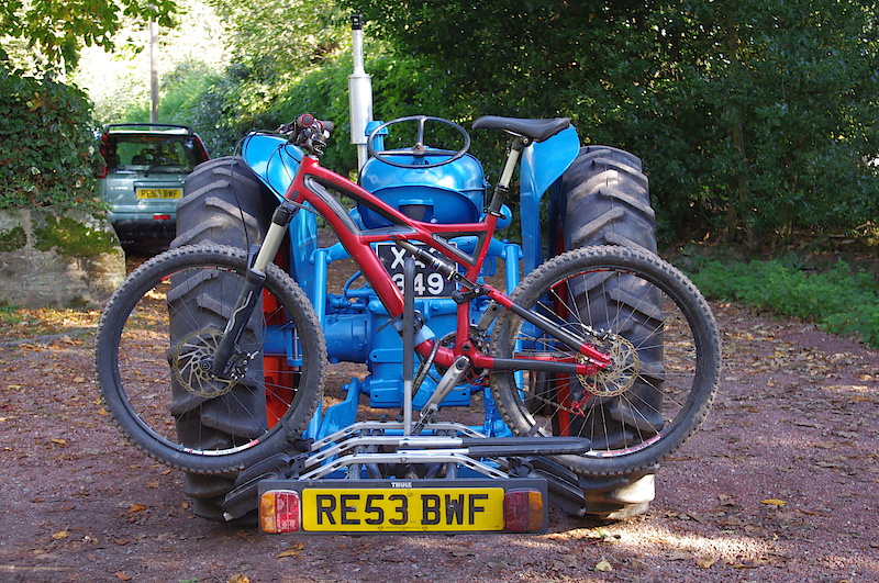1957 Fordson Major and my 2010 Specialized enduro....