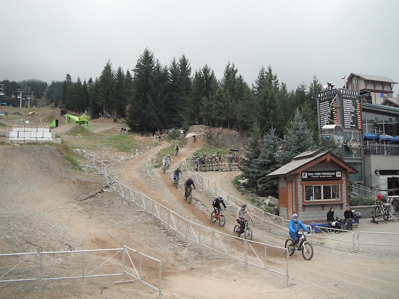 MegaTrain 2010 coming in to the finish off the GLC Drop
