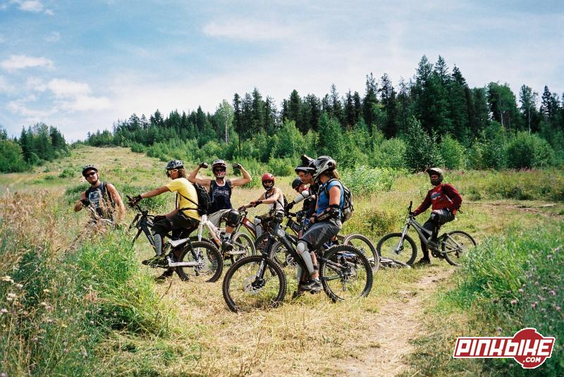 Group at the bottom of the Nelson Biker X course