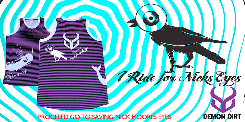 Buy a jersey to help pay for Nick's eye surgery and you could win a session at The Camp of Champions where you can ride with Nick's eyes, and the rest of the Demon Dirt team like COC coaches, Casey Groves, Sam Dueck and Justin Wyper.