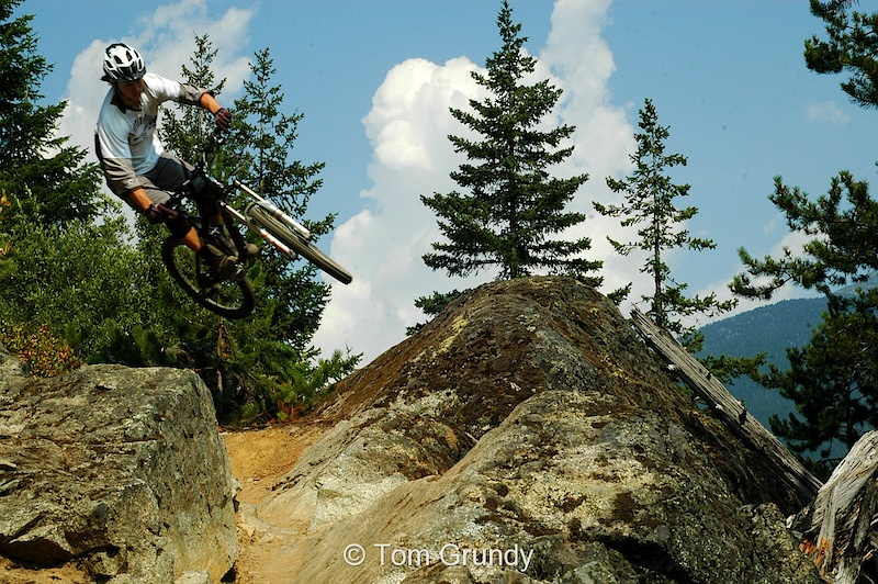 Paul Stevens Airs Sideways into a Rock Garden