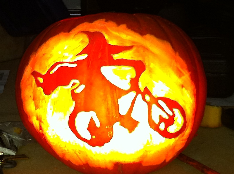 Halloween pumpkin carving contest winners pinkbike