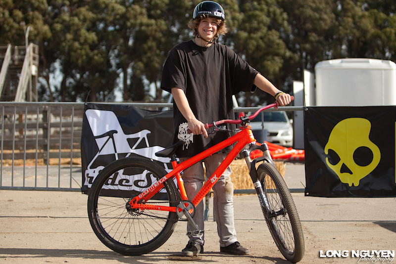 Austin Hemperley stoked to be here with his Commencal 4X