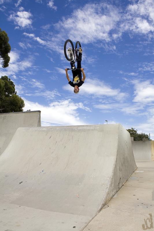 Flip...Alex shreds as hard as his older brother lewis  Rider - Alex Nolan  Copyright Lawrencephotog
