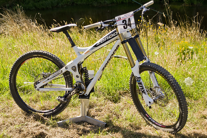 The first production bike fully built up ready to tackle the toughest terrain.