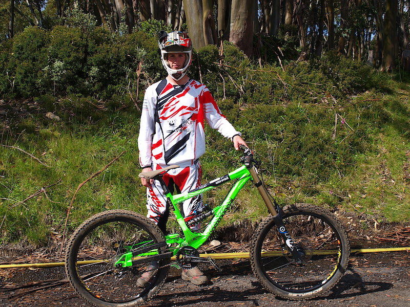 Aden has been onboard a Commencal for a while now, these bikes certainly do stand out