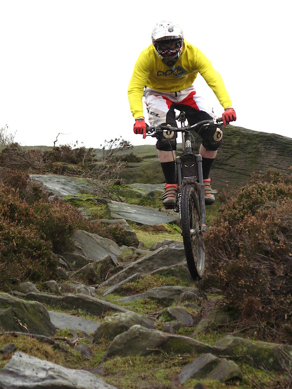 Josh Lewis at Wharncliffe craggs