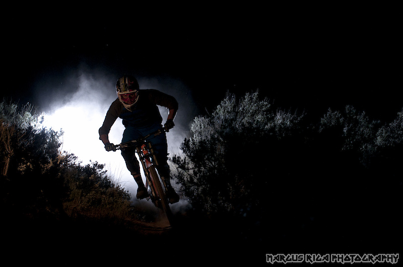 This is the same line as above, shot from the bottom. Al Crisp was basically riding by braille at this point. I bet he was super stoked to have my lights blinding him even more.